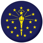 Indiana State Flag 58mm Mirror Keyring